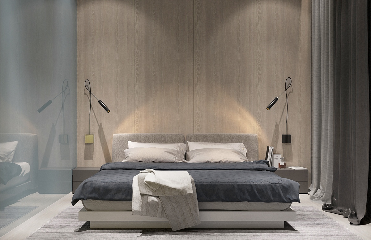 Modern and minimalist bedroom decorating ideas so for Minimalist bedding design