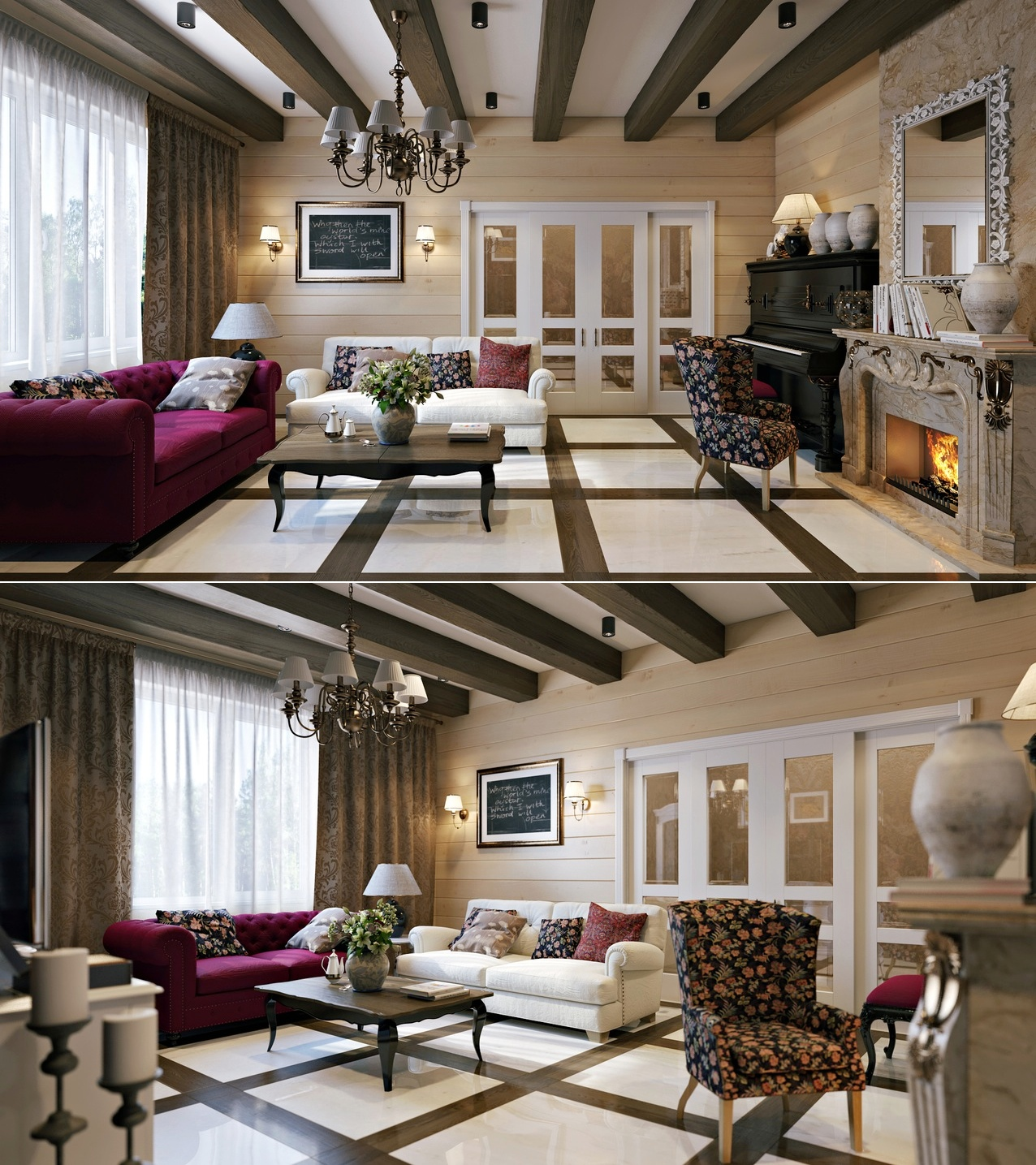Creative design ideas for living room with luxury and for Creative living room design ideas