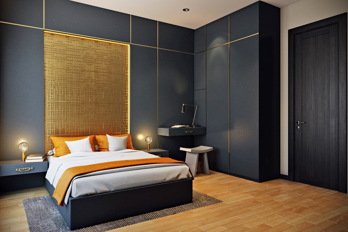 bright color combination for bedroom