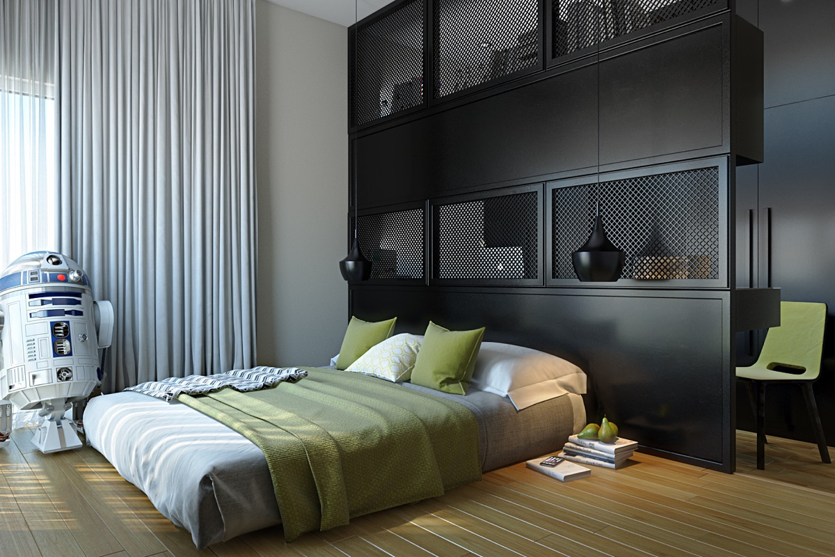 Dark Color Bedroom Decorating Ideas Shows A Luxury And