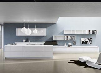 contemporary white kitchen design