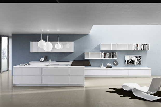contemporary white kitchen design