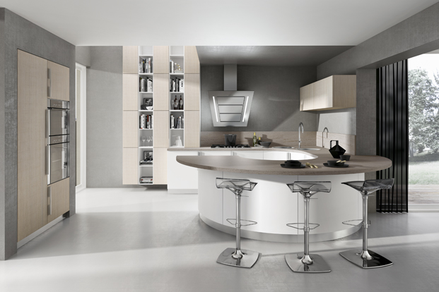 decoration circular kitchen design idea