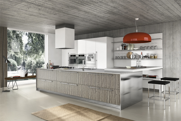 contemporary gray kitchen design