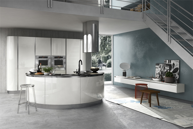 circular kitchen design idea