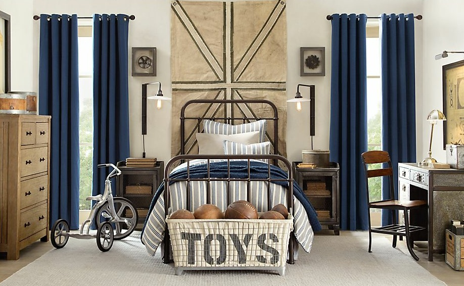 Tips How To Decorate Boys Bedroom Ideas Looks Vintage With Wooden ...