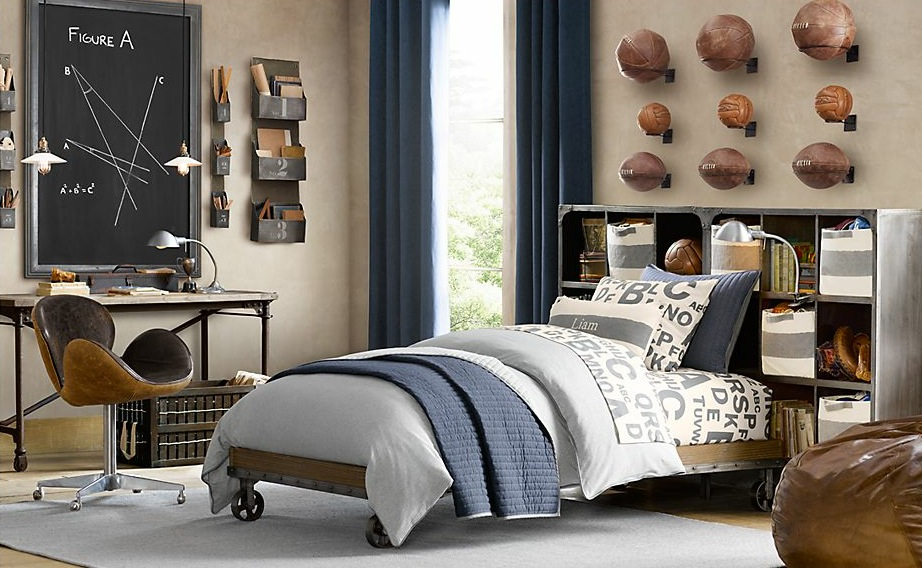 vintage decor for boys bedroom