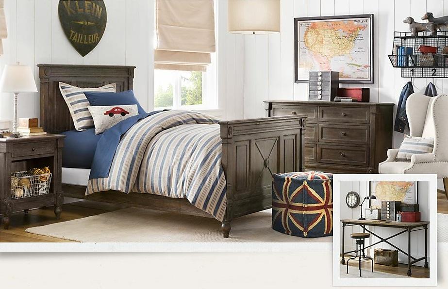 vintage boys bedroom decor