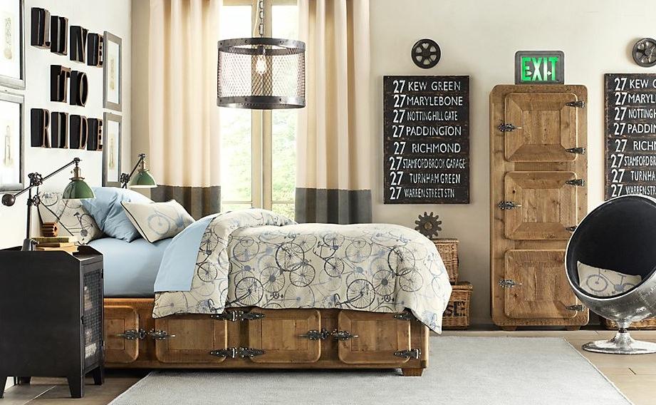 boys bedroom with modern lights