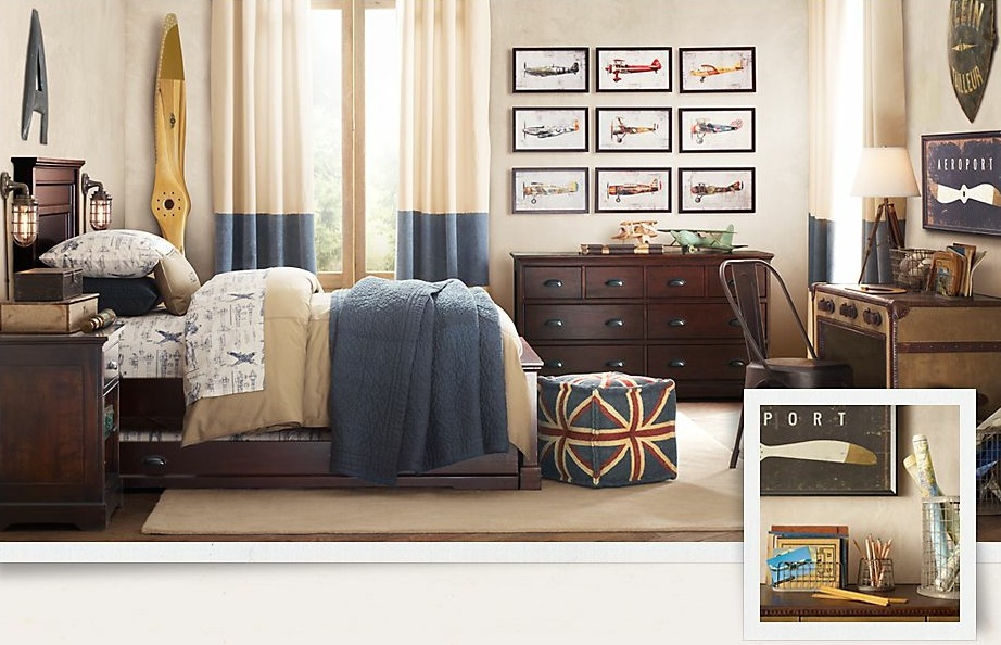 boys bedroom with wooden