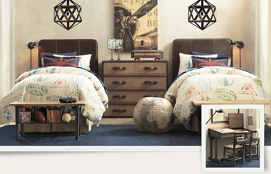 decoration boys bedroom vintage
