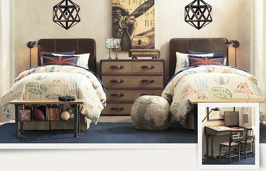 decoration boys bedroom vintage