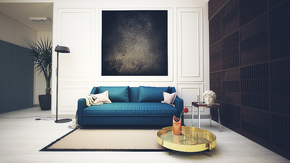 modern brickwall living room