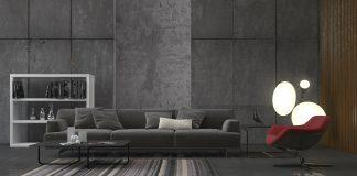 minimalist gray living room decor