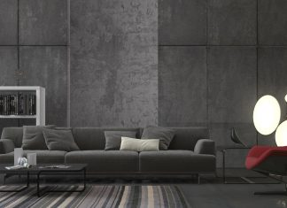 minimalist gray living room decor