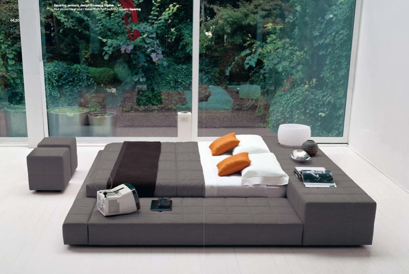 dark unique bedroom design