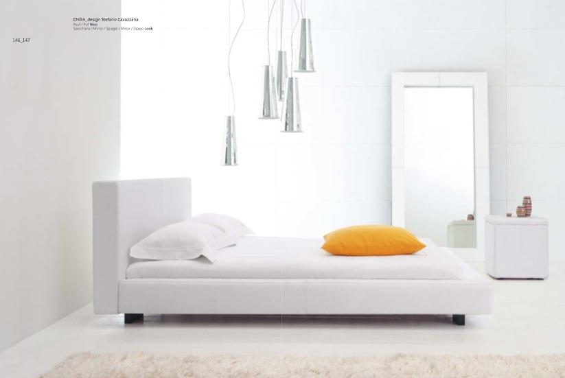 simple white unique bedroom design