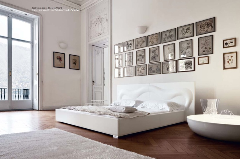unique white bedroom design