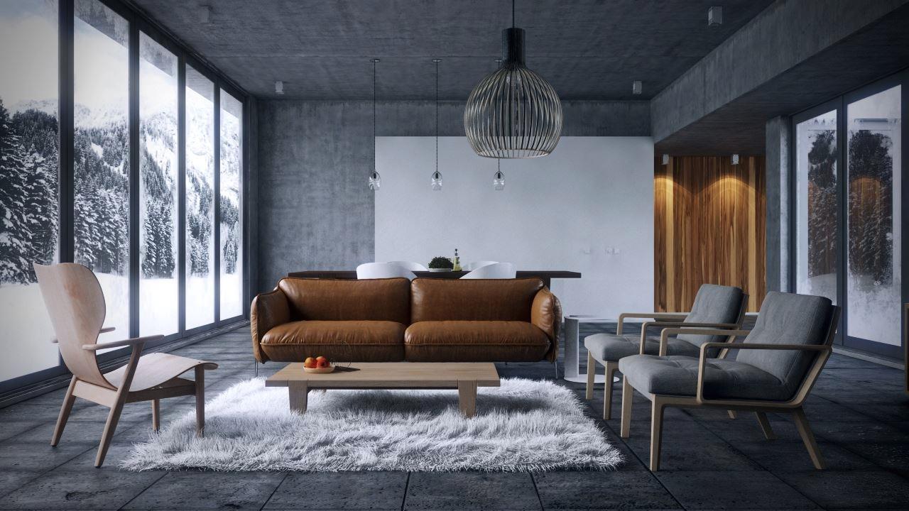spacious gray living room inspiration