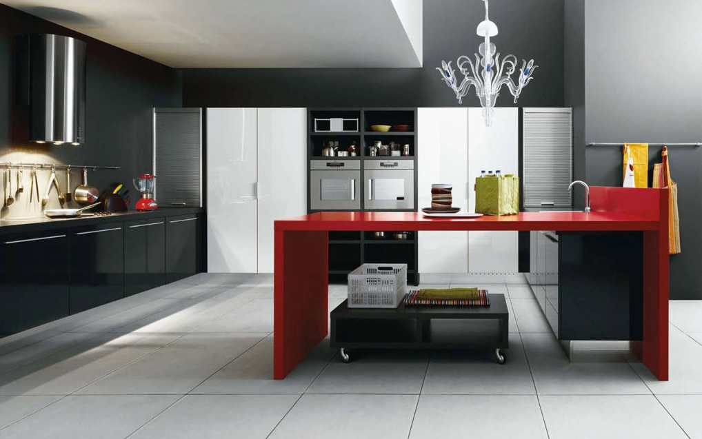 bright color for modern kitchen