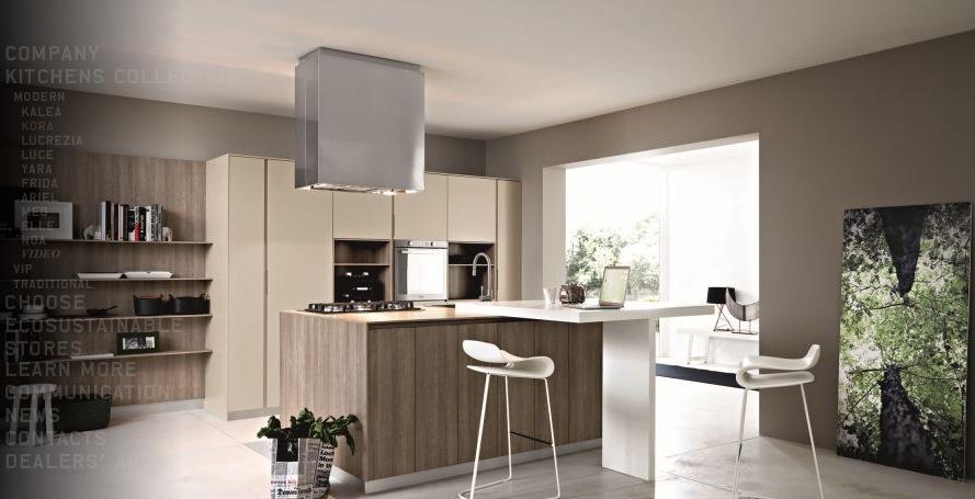 natural wooden modern kitchen design