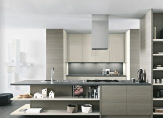 modern kitchen design with wooden