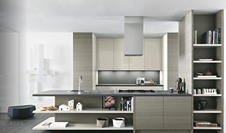 soft color modern kitchen design