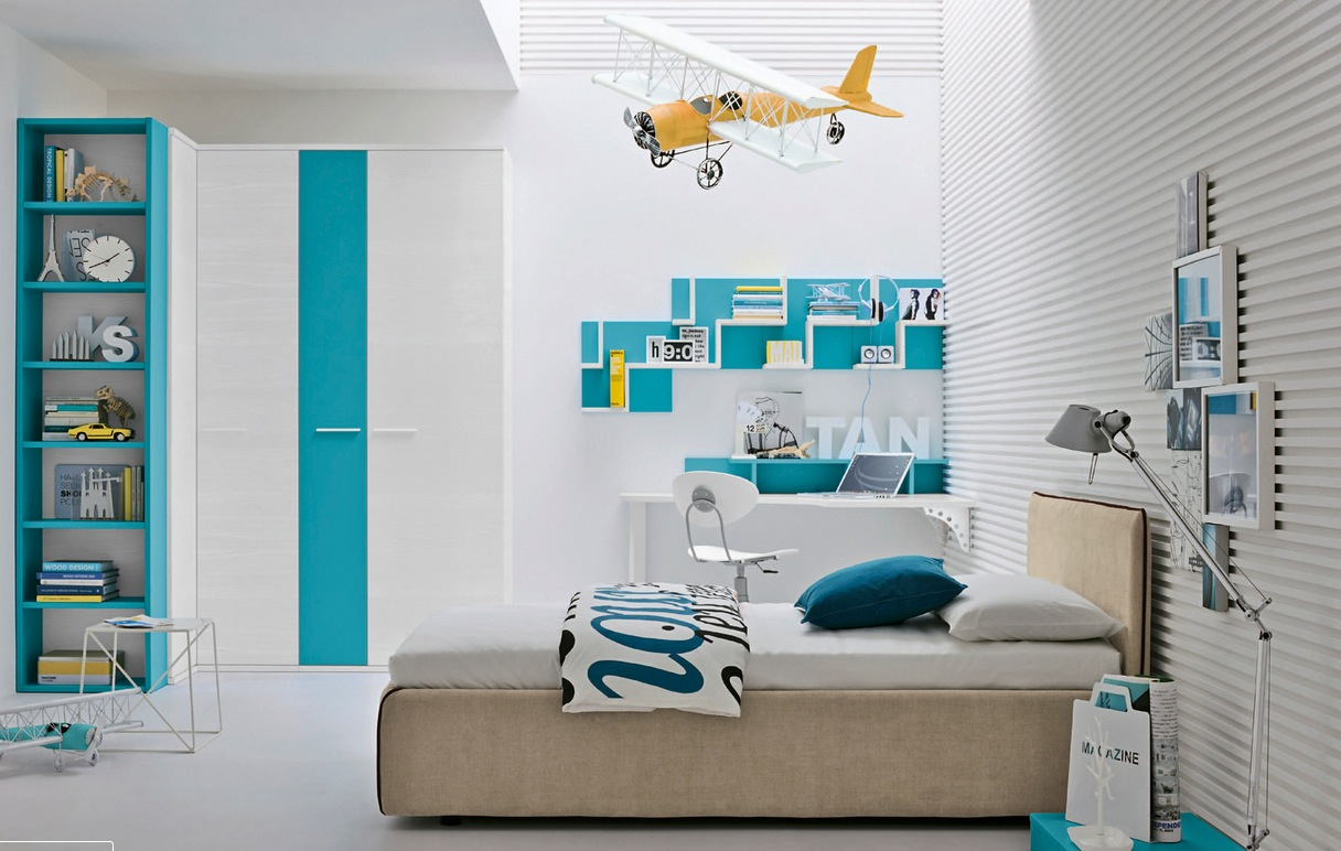 modern and colorful kid's bedroom