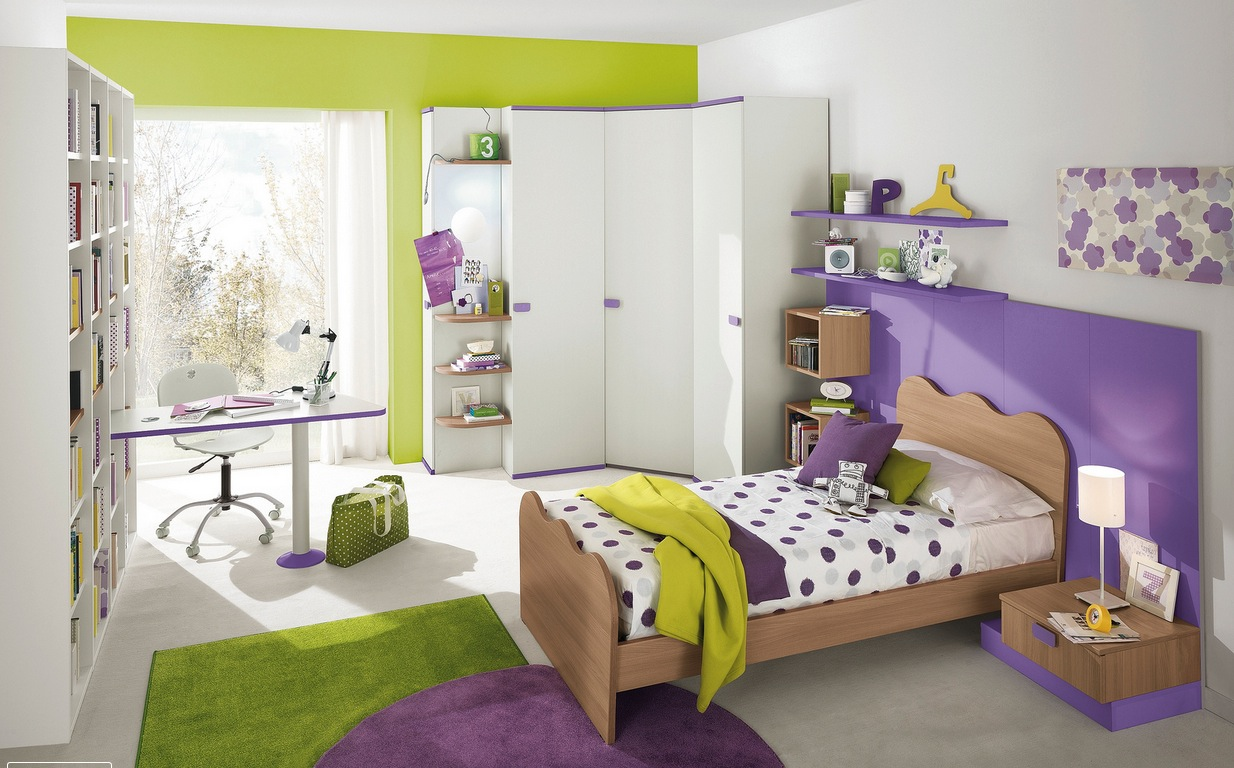 green kid's bedroom design