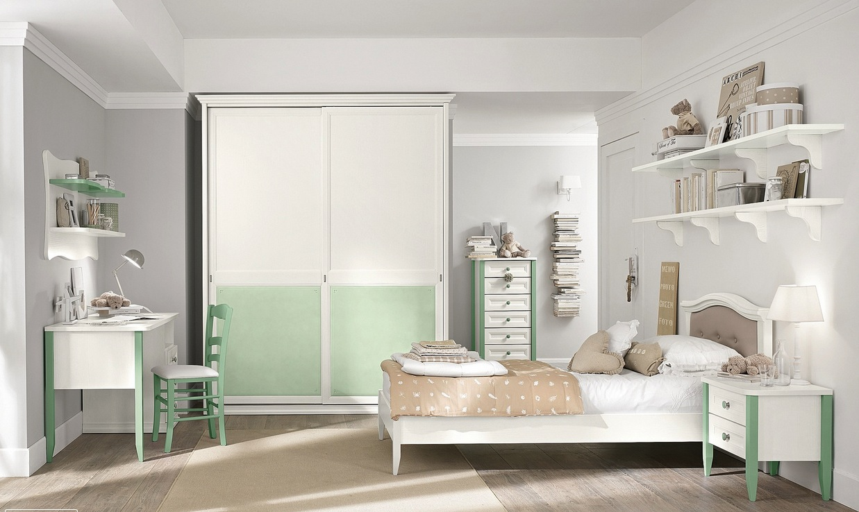 white brown bedroom design