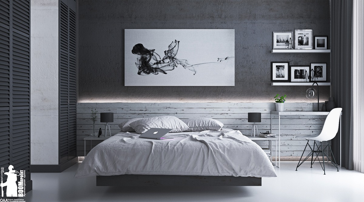 masculine bedroom design idea