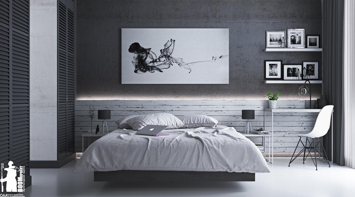 masculine bedroom design idea