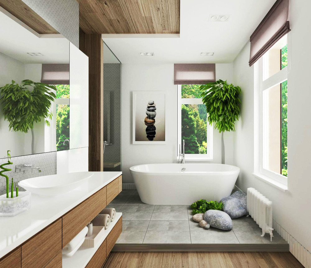 bathroom design with cute decor