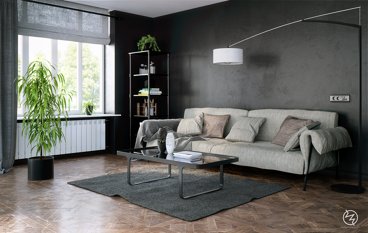 decorating black living room