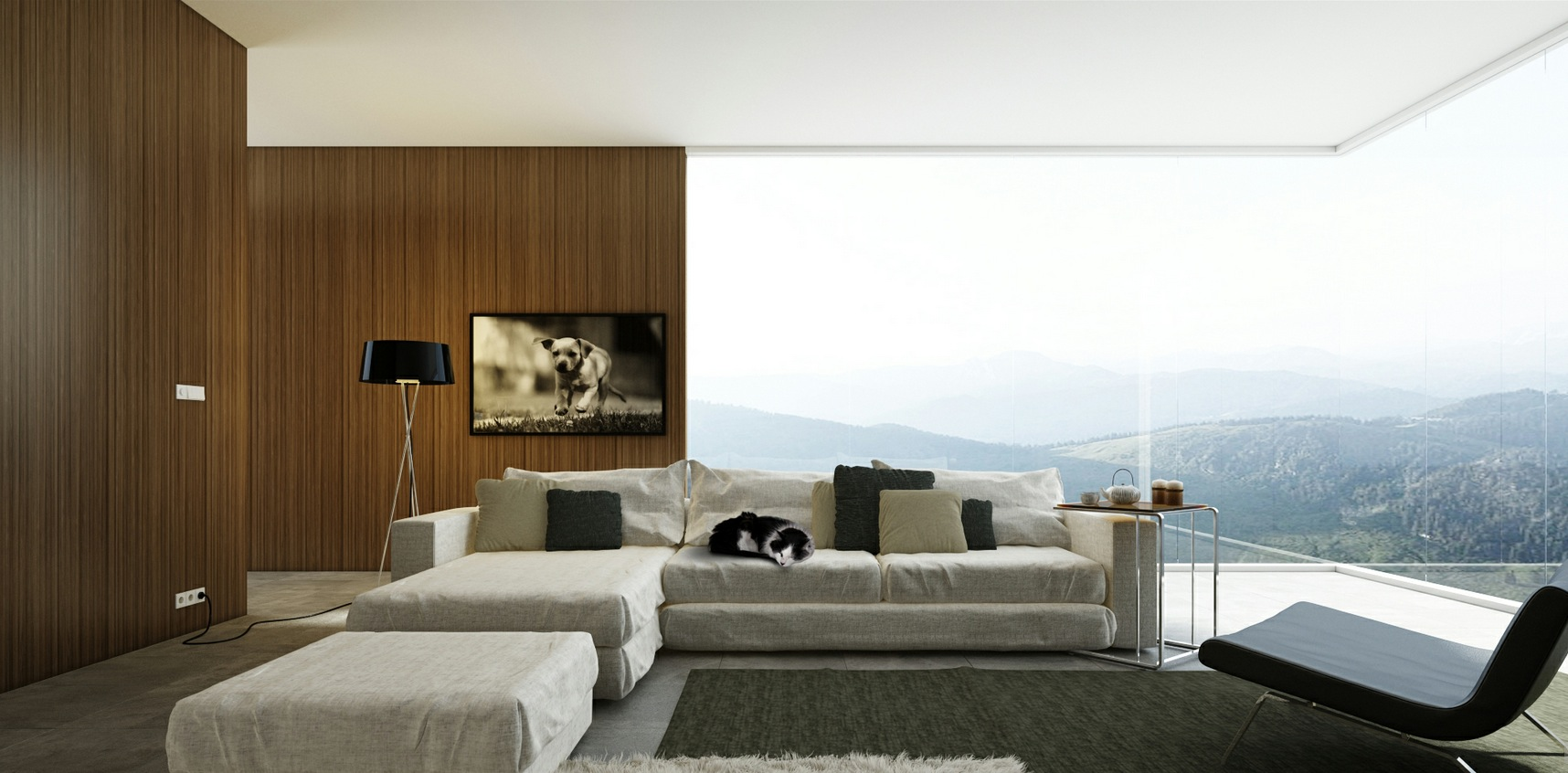 Modern Decorated Living Rooms Living Room Designs With Great View And Modern Decor Looks So