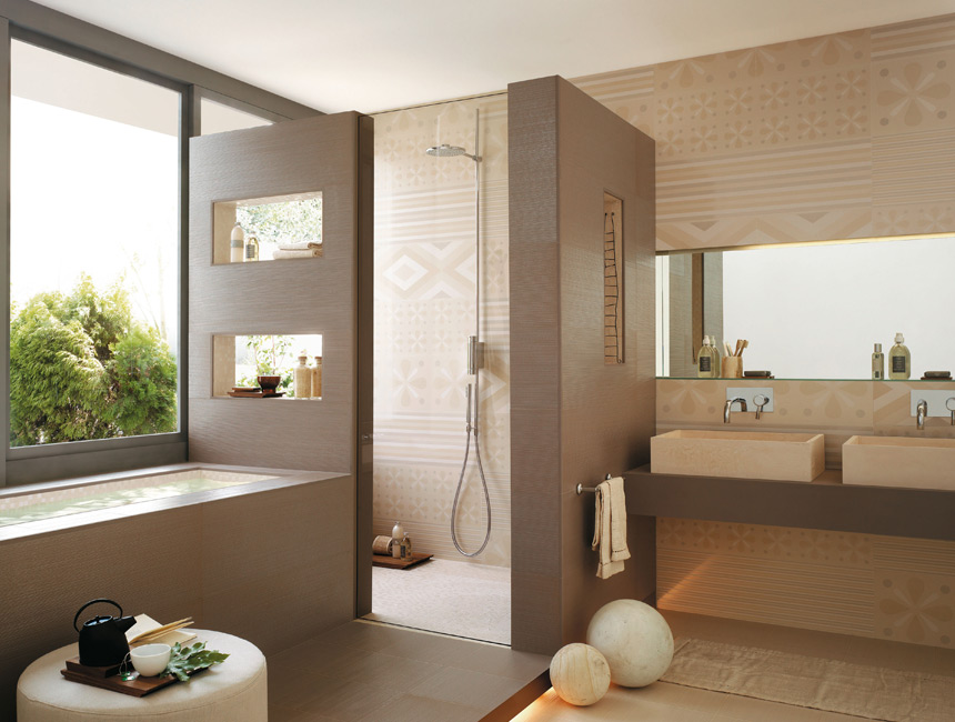 FAPCeramiche Decorating Beige Bathroom Wall Design