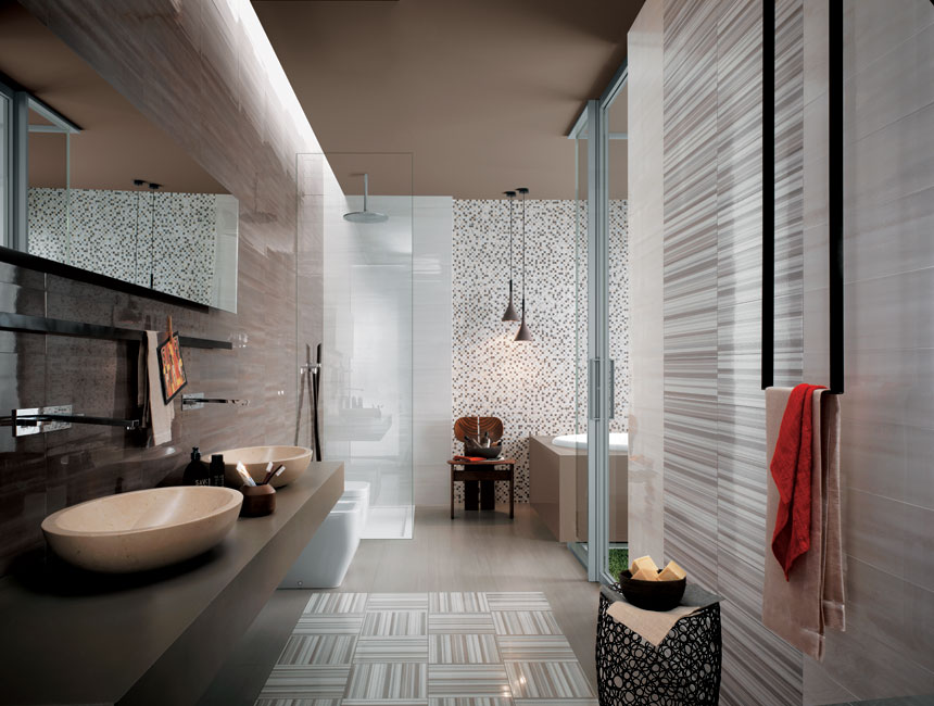 gray color wall bathroom design
