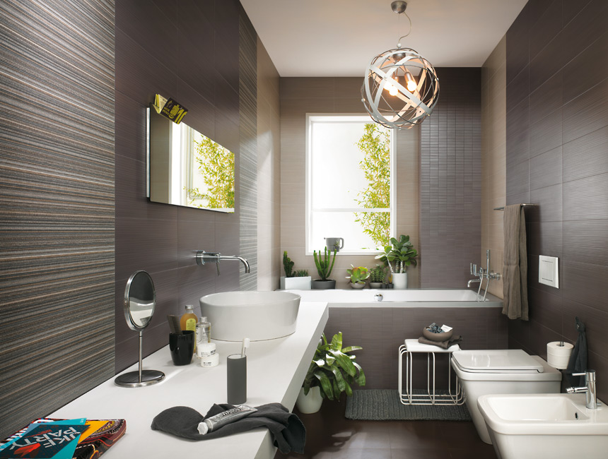 soft gray wall bathroom decor