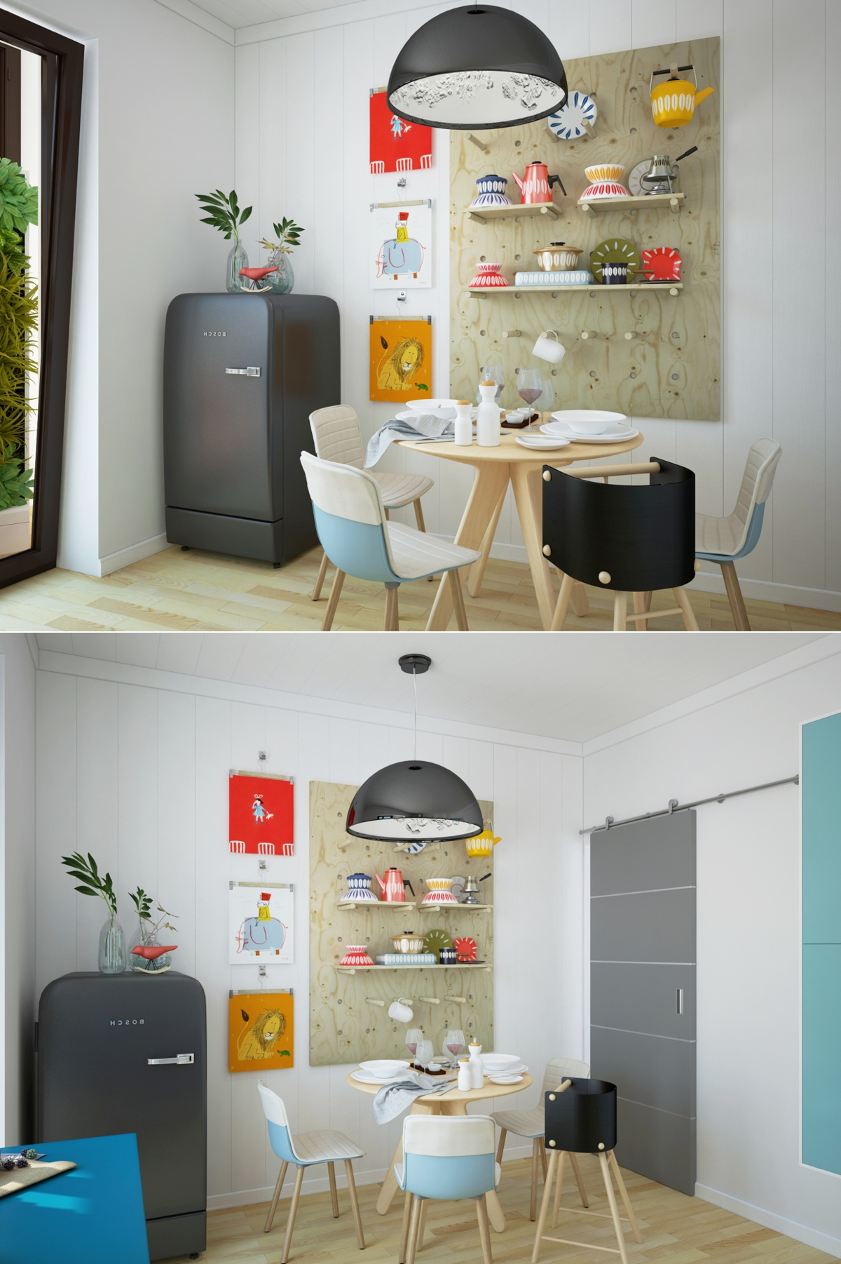 decorating colorful modern dining room
