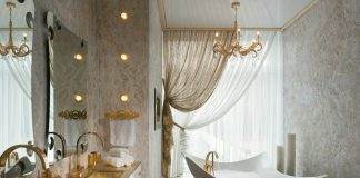 white gorgeous bathroom design