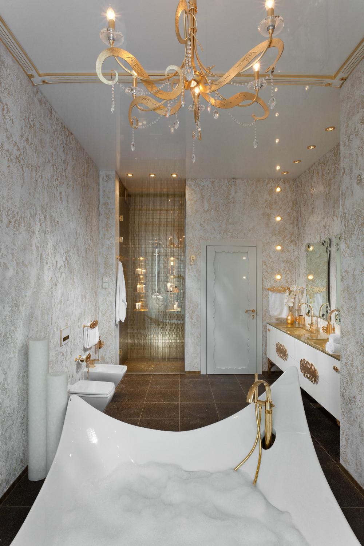 glamour decor bathroom design