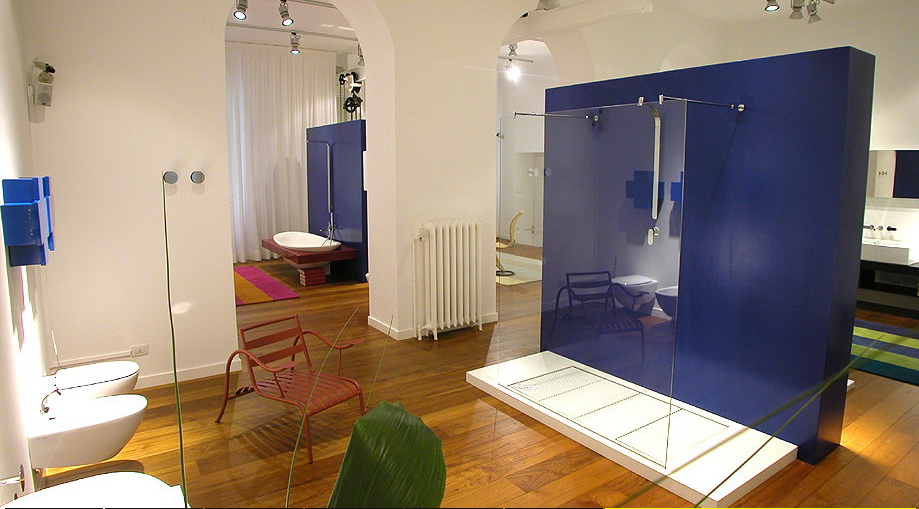 bathroom ideas with bright color