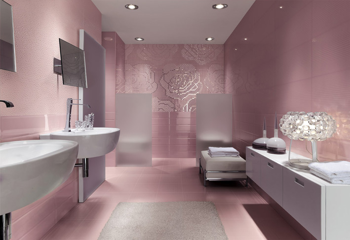 Girls bathroom decor idea with a beautiful decoration for Beautiful bathroom decor