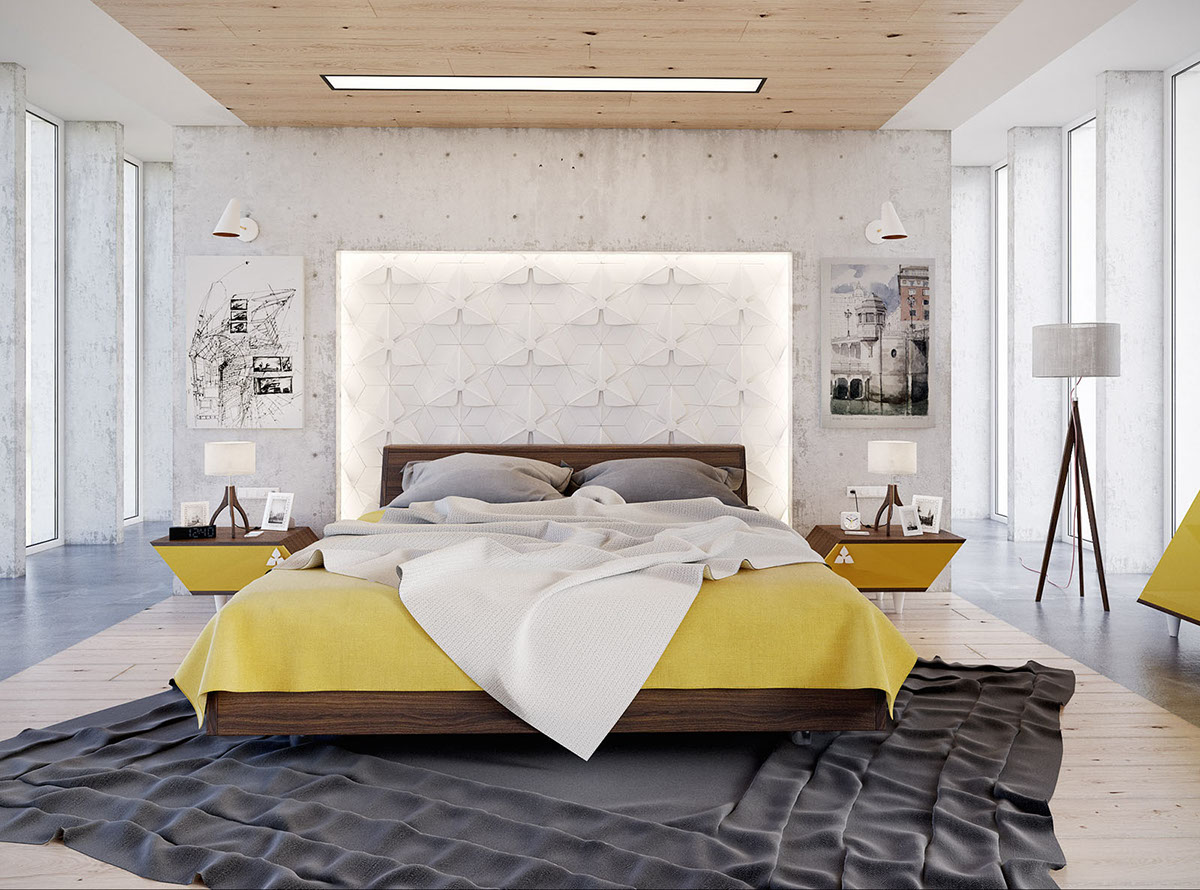 contemporary white bedroom design
