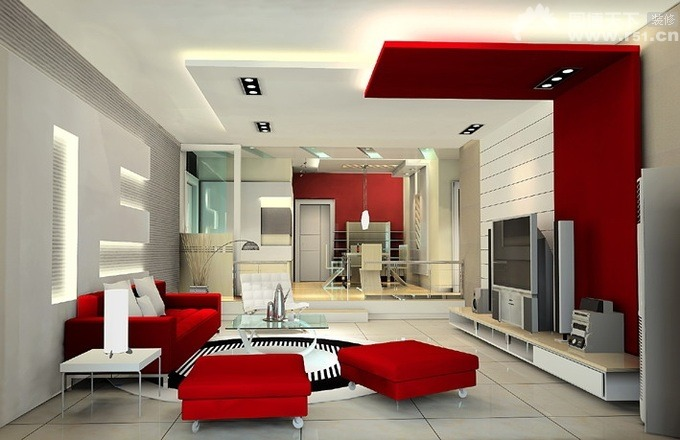 Living Room Decorating Ideas With Red And White Color Shade ...