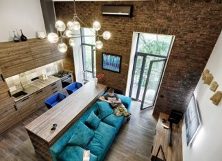 Industrial loft apartment design