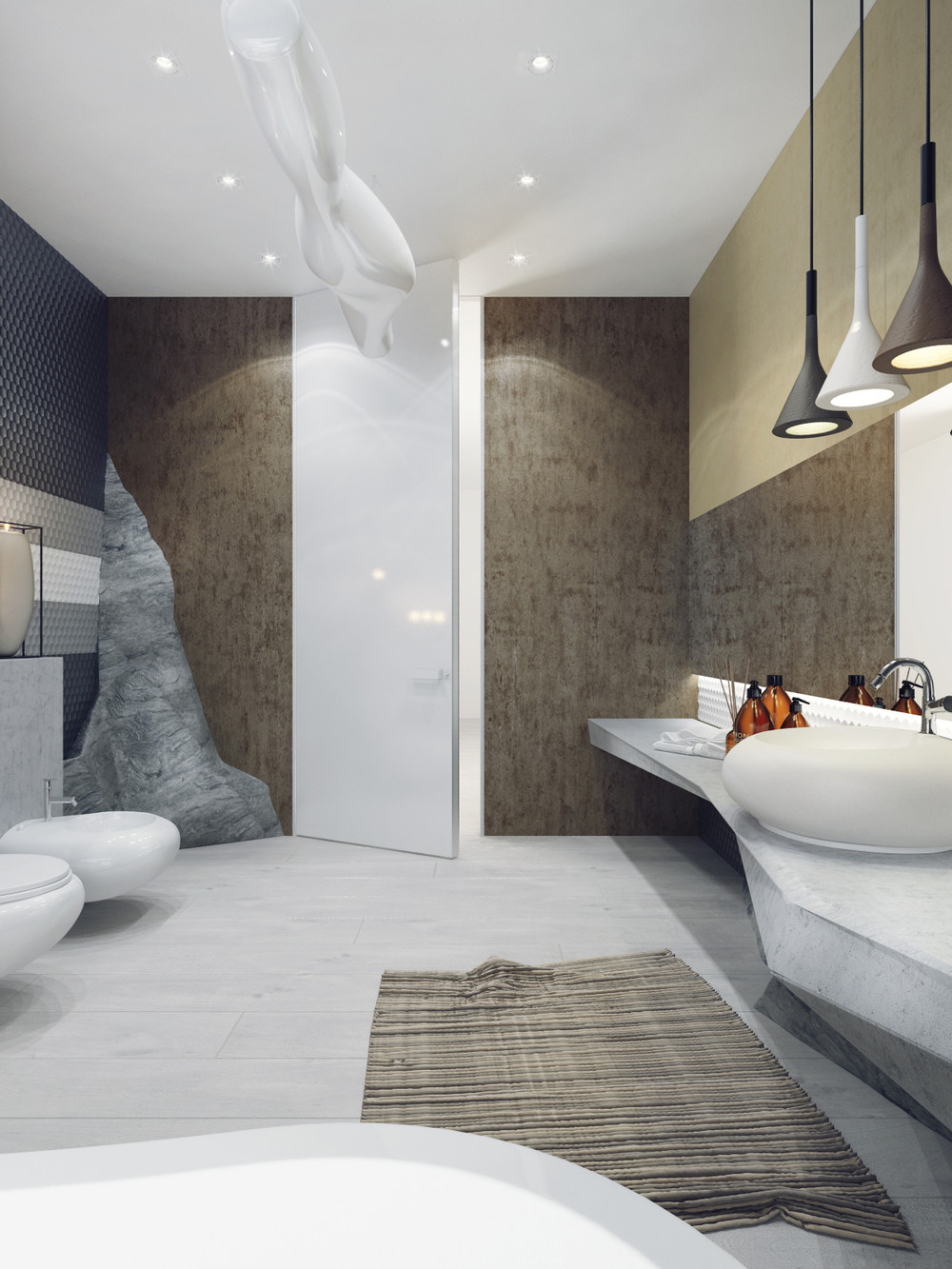 bathroom designs with creative decor