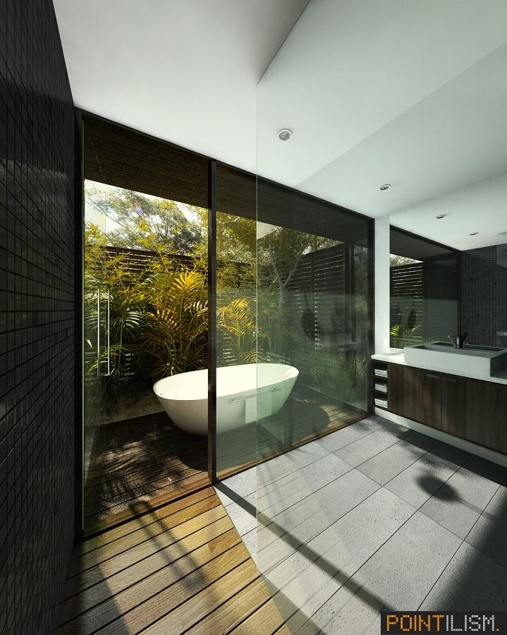 beautiful bathroom with bathtub design