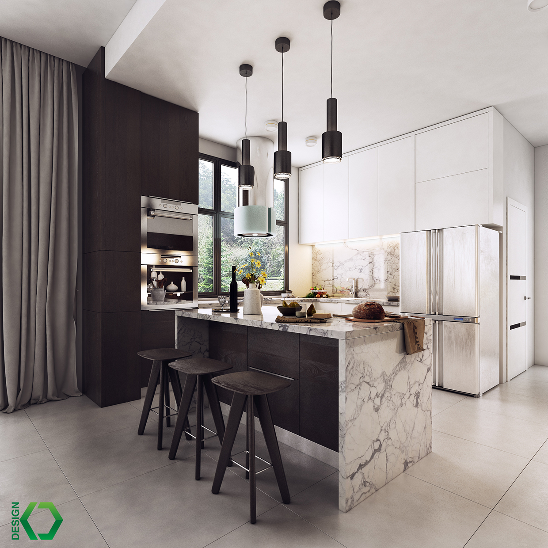 trendy kitchen apartment design