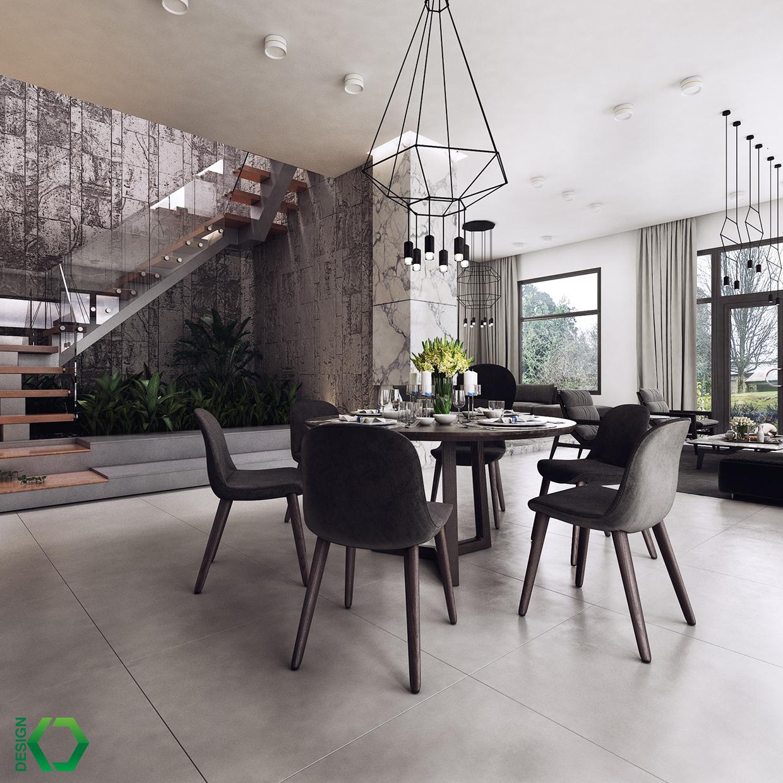 black dining room furniture design